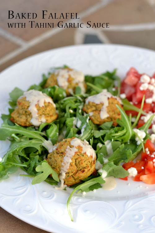 Baked Falafel with Tahini Garlic Sauce - Supper for a Steal