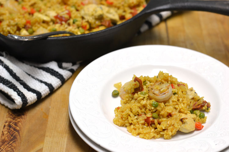 Chicken and Shrimp Paella - Supper for a Steal