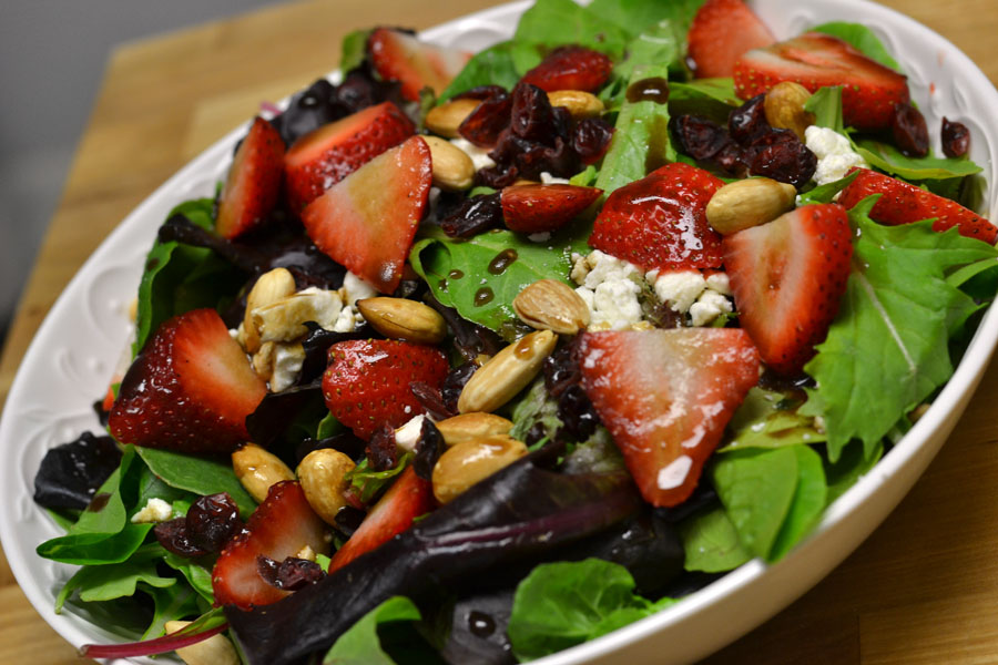 Strawberry and Feta Salad with Honey Balsamic Vinaigrette ...