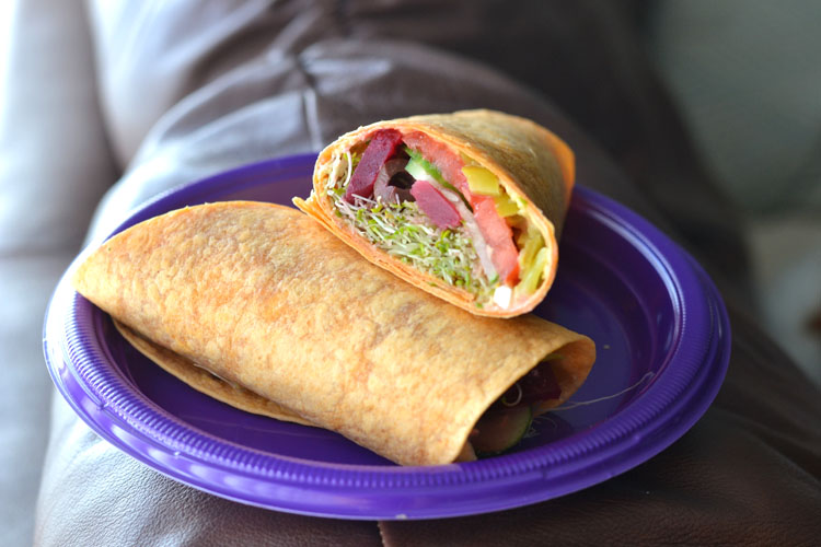 Greek Veggie Wrap - Supper for a Steal