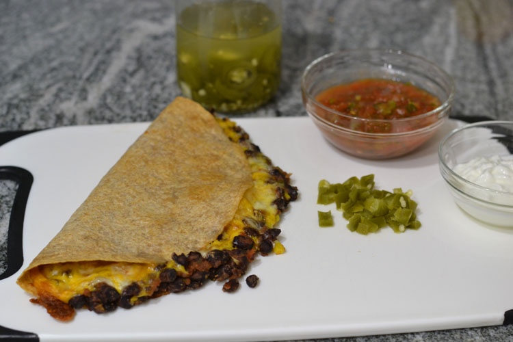 Baked Black Bean Quesadillas