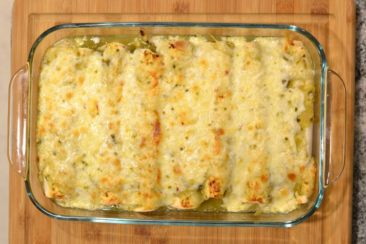 Easy green sauce chicken enchilada recipe