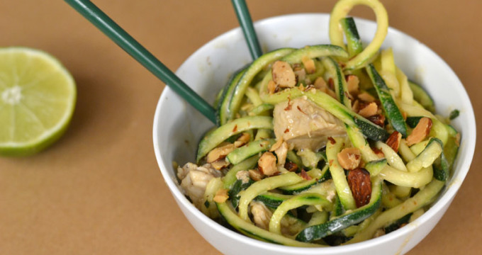 Cashew Zoodles with Chicken