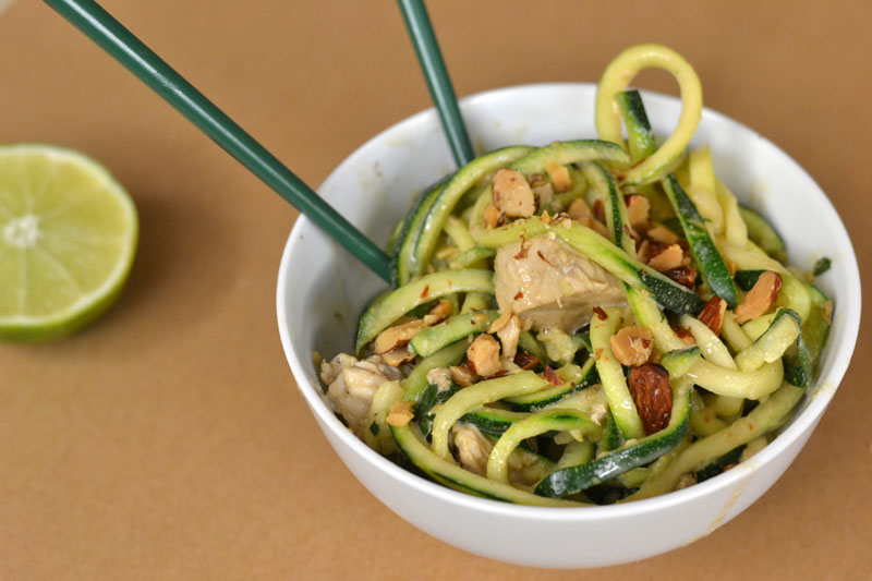 Cashew Zoodles and Chicken