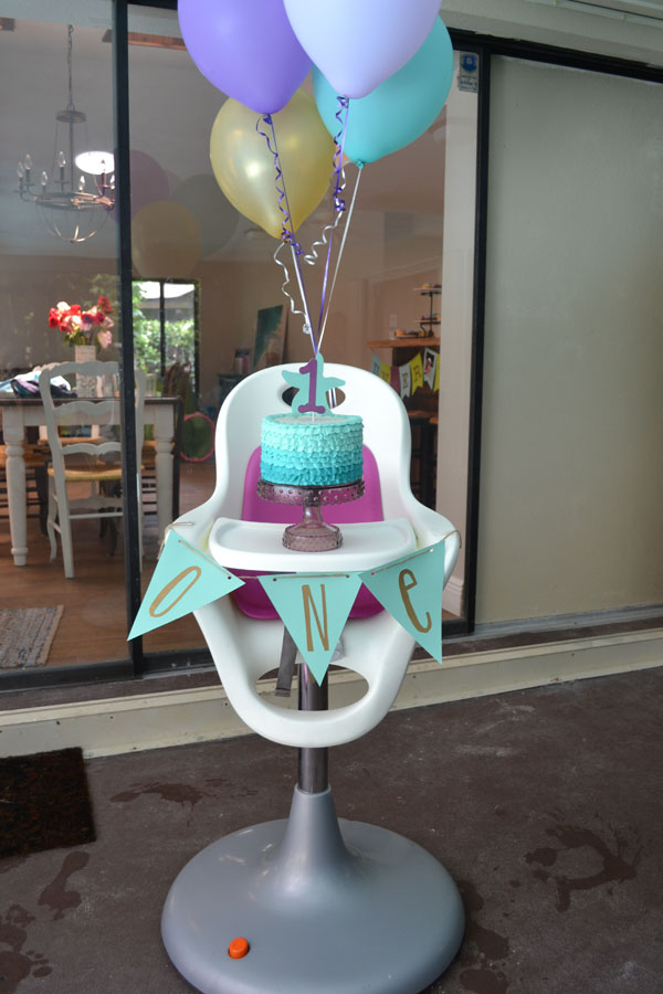 Under the Sea Birthday Party smash cake